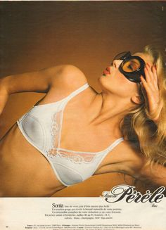 #vintage #ad #80s #glamour #lingerie #french