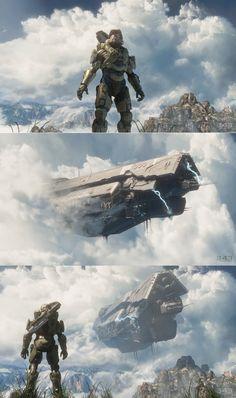 The UNSC Infinity crash landing on Requiem.