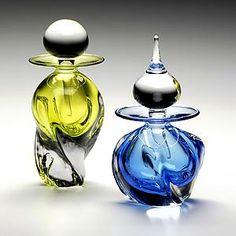 Tri Twist Perfume Bottles: Michael Trimpol: Art Glass Perfume Bottle | Artful Home