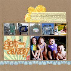 Get away scrapbook page