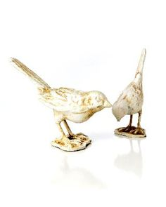 Ivory Cast Iron Birds