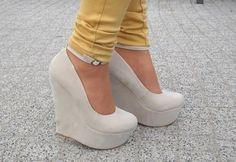 ankle strap platform wedges