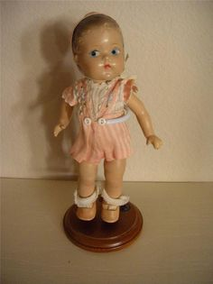 Vintage Ginny Vogue Toddles Doll-Molded Hair