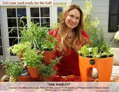 "SET YOUR RECORDERS! Mon. Sept. 29 @10AM pst/ct for ""Home & Family"" show on Hallmark. Landscape and edible garden expert, Shirley Bovshow answers YOUR questions!"