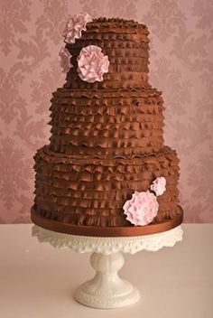 casamento_bolos_tipos_de_bolo_decoração_marrom_chocolate