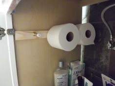 DIY toilet paper holder {Chatfield Court}