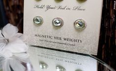 Magnetic Veil Weights - just in case it's super windy that day!    never thought of that