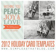 2012 Christmas Card Templates from Simple as That #christmas #cards