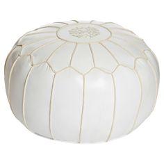 Moroccan Pouf White