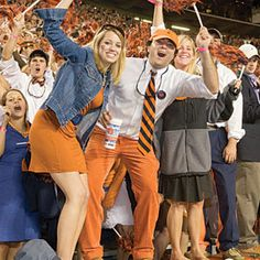 """This is what the SEC is all about!  LOVE THIS. 10 commandments of college football: 1. Thou shalt wear team colors. But think twice before adorning yourself with body paint—you don't want to be the Internet photo that goes viral.  2. Thou shalt know—and sing—your team's fight song from beginning to end. Sure, you can """"watermelon watermelon"""" your way through the alma mater, but not memorizing the fight song is a fan failure.  3. Thou shalt keep your language clean (unless, of course, the quarterback fumbles on fourth and goal).  4. Thou shalt support the coach. Even when his calls are questionable.  5. Thou shalt be respectful to visiting teams. Remember: Southern ladies and gentlemen never boo.  6. Thou shalt set up a tailgate no fewer than three hours before kickoff (six if it's a night game). Table linens and matching huggers encouraged, but not required.  7. Thou shalt theme your tailgate food around the visiting rival. Gator bites, anyone?  8. Thou shalt stay through the fourth quarter—rain or shine. That's what ponchos are for, y'all.  9. Thou shalt respect the solemnity of Game Day by planning weddings, births, and other life events around the football schedule.  10. Thou shalt not covet other teams' bowl games, national championships, or Heisman Trophy wins. There's always next year.  
