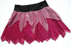 """These SparkleLight (no built-in shorts) skirts are only about 14"""" long at the deepest point. (Choose the Pixie length if you prefer a slightly shorter skirt.)"""