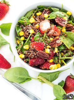 Quinoa Spinach Strawberry-Salad