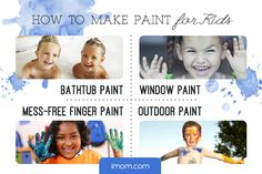 Operation Summer Fun can help make your summer colorful!  We've found four ways to make paint—bathtub paint, window paint, mess-free finger paint, and outdoor paint. #hhgregg #iMOM #summerfun