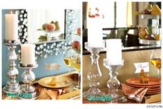 Another High/Low design, #Pier 1 inspiration with items from #Goodwill.  #thrift #decor #design