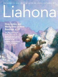 Free PDF Download- September 2014 Liahona (in English, Spanish and Portuguese version) shepherd, biblic art, lost lamb, lds magazin