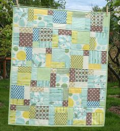 Disappearing nine patch baby boy quilt--block tutorial here: http://www.cluckclucksew.com/2008/10/disappearing-nine-patch.html