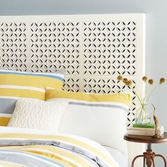 Carved Headboard - White #WestElm