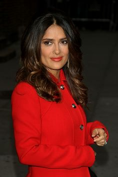 Salma Hayeks ombre highlights