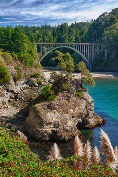 Russian Gulch Bridge Highway 1 - Mendocino, California
