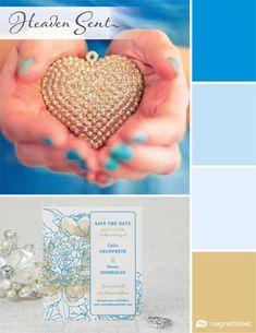 My favorite wedding color palette: Heaven Sent | MagnetStreet Weddings #winMSW color palett