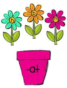 Planting Word Families freebie!
