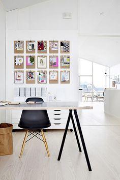 work spaces, white