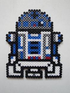 R2-D2 in Perler Beads