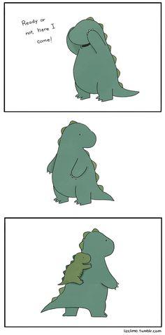 cute dinosaur, funny pics, hide, liz climo, funni, dinosaurs, thing, seek, comic strips