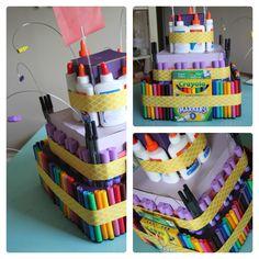 Teacher Appreciation school supply 'cake'