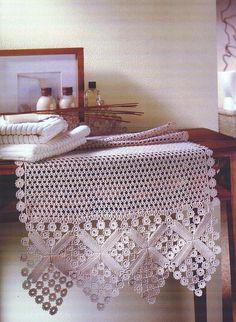doili, crochet tabl, tabl runner, croché croché, knit, tejido