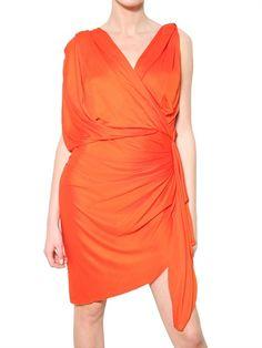 Lanvin Drape Dress #topfashion #kathyna257892 #DrapeDress #Drape  #Dresses #summerdress www.2dayslook.com