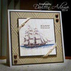 I don't have this embossing folder but could probably use my Simply Scored to create the design.