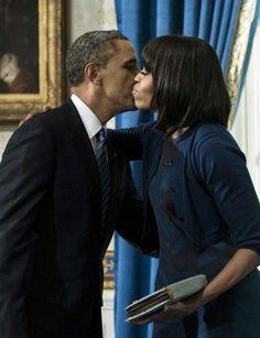1st Lady Michelle Obama & President Barack Obama After Being Sworn In....