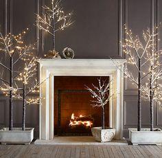 Clean & elegant Christmas display.  Love. Love. Love.