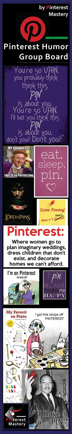 Pinterest Mastery's Pinterest Humor Group Board ....... [ 2,945 contributors,3,556 followers, 1,131 pins]  ....... to join > http://pinterest.com/pinmastery/message-me/  ................................................................   #Humor #Pinterest #Group #Board #Jokes