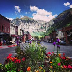 Colorado Ave. (Main Street) #Telluride #Colorado | Summers Day.