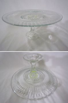 DIY cake stand: dollar store candle sticks and dollar store plates.