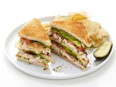 Chicken-Potato Chip Club Sandwiches Recipe : Food Network Kitchen : Food Network - FoodNetwork.com