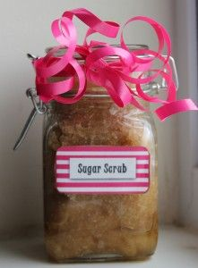 Save money by making your own sugar scrub at home. You will love how easy this is to make without having to spend a high price tag like you would if you purchased it at the store. The best part is you can alter the ingredients to make it how you like it.