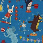 Kokka Nancy Wolff Circus Animals Blue [IMPORT-70100-100-C] - $19.95 : Pink Chalk Fabrics is your online source for modern quilting cottons and sewing patterns., Cloth, Pattern + Tool for Modern Sewists