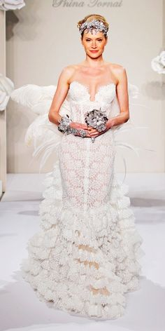 Dreaming feather wedding dresses on pinterest feather for Build your dream wedding dress