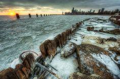 winter, chicago skylin, chicago club, photography