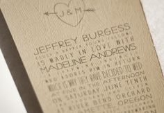 love the faux bois wood grain texture paper. a more affordable route for wood invites!