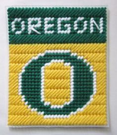 Oregon tissue box cover in plastic canvas PATTERN ONLY by AuntCC for $2.50