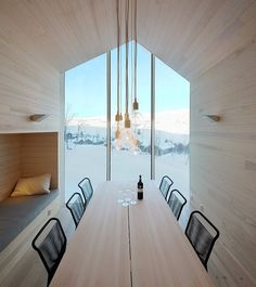 interior, the view, ramstad arkitekt, dining spaces, house architecture, reiulf ramstad, mountain lodge, cabin plans, contemporary design
