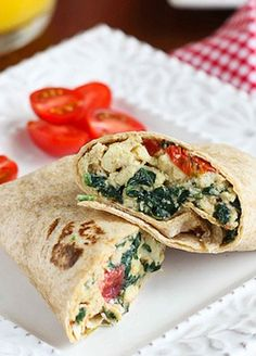 breakfast wrap with some feta cheese using this Scrambled Egg Wrap ...