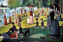 A Sunder Afternoon on the Island of La Grande Jatte - Georges Seurat -and the focal point for Sondheim's amazing musical Sunday In The Park With George.