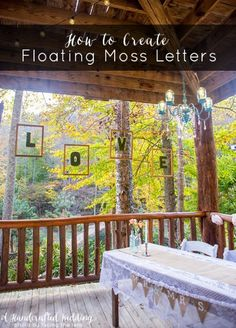 Floating Moss Letters Tutorial via A Handcrafted Wedding letter tutori, moss letter