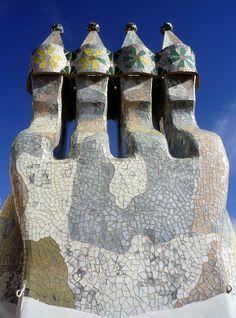 Antoni Gaudí, Casa Batlló, Chimneys