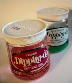 """Dippity-do""  (hair styling gel) I remember this"